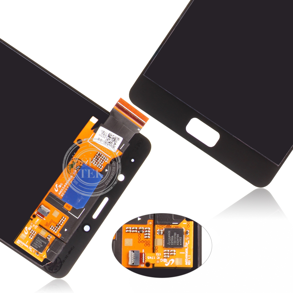 Amoled original 5.5 lcd para lenovo p2 display tela de toque com moldura para lenovo vibe p2 display lcd p2c72 p2a42 - 6