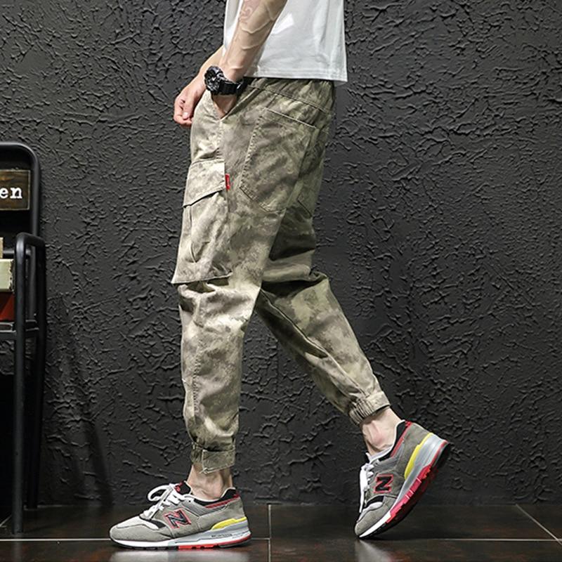 2019 Autumn Clothing New Style Men Japanese-style Loose Version Camouflage Bib Overall Sportsman Velcro Large Size Beam Leg Casu