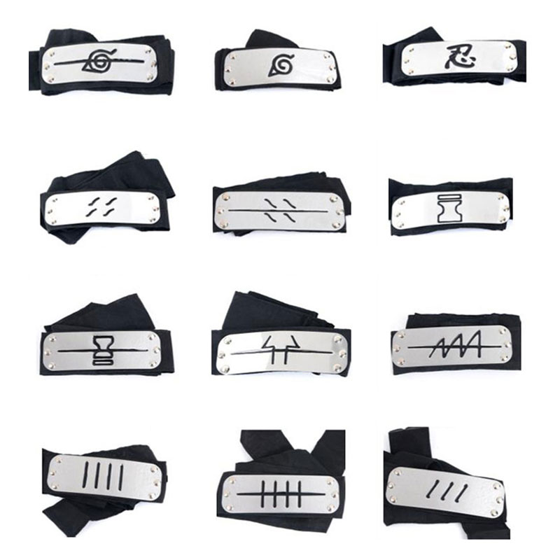 Naruto Headband Anime Expo Cosplay Costume Accessories Naruto Whole Character Logo Head Belt Festival Game Prop Wholesale Price image