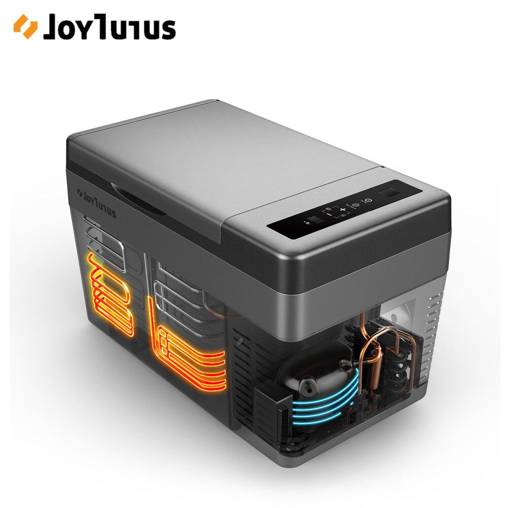Otomobiller ve Motosikletler'ten Buzdolapları'de 25L araba buzdolabı 2 şarj yöntemleri 12 V/24 V 45W taşınabilir buzdolabı kompresörü soğutucu dondurucu isıtıcı ev seyahat için kamp title=