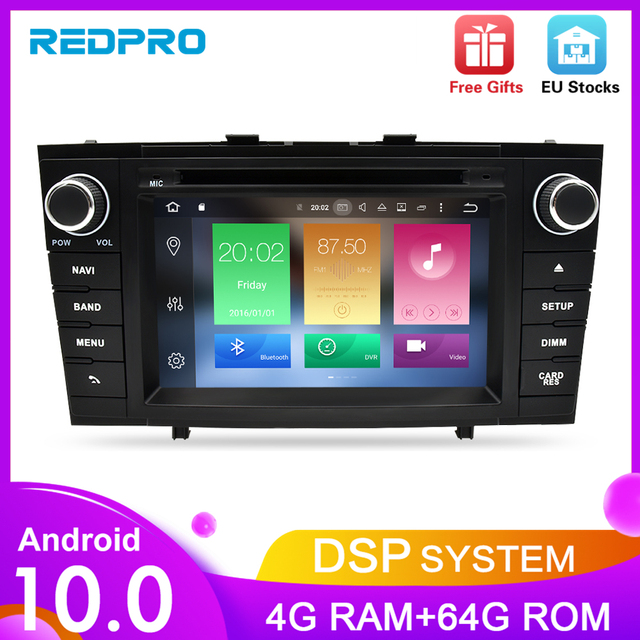 """7 """"Android 10.0 Carro Estéreo de Rádio Para Toyota Avensis 2009 2014 2 T27 Din DVD DAB + Unidade Central de Navegação GPS Wifi FM Bluetooth 4G RAM"""