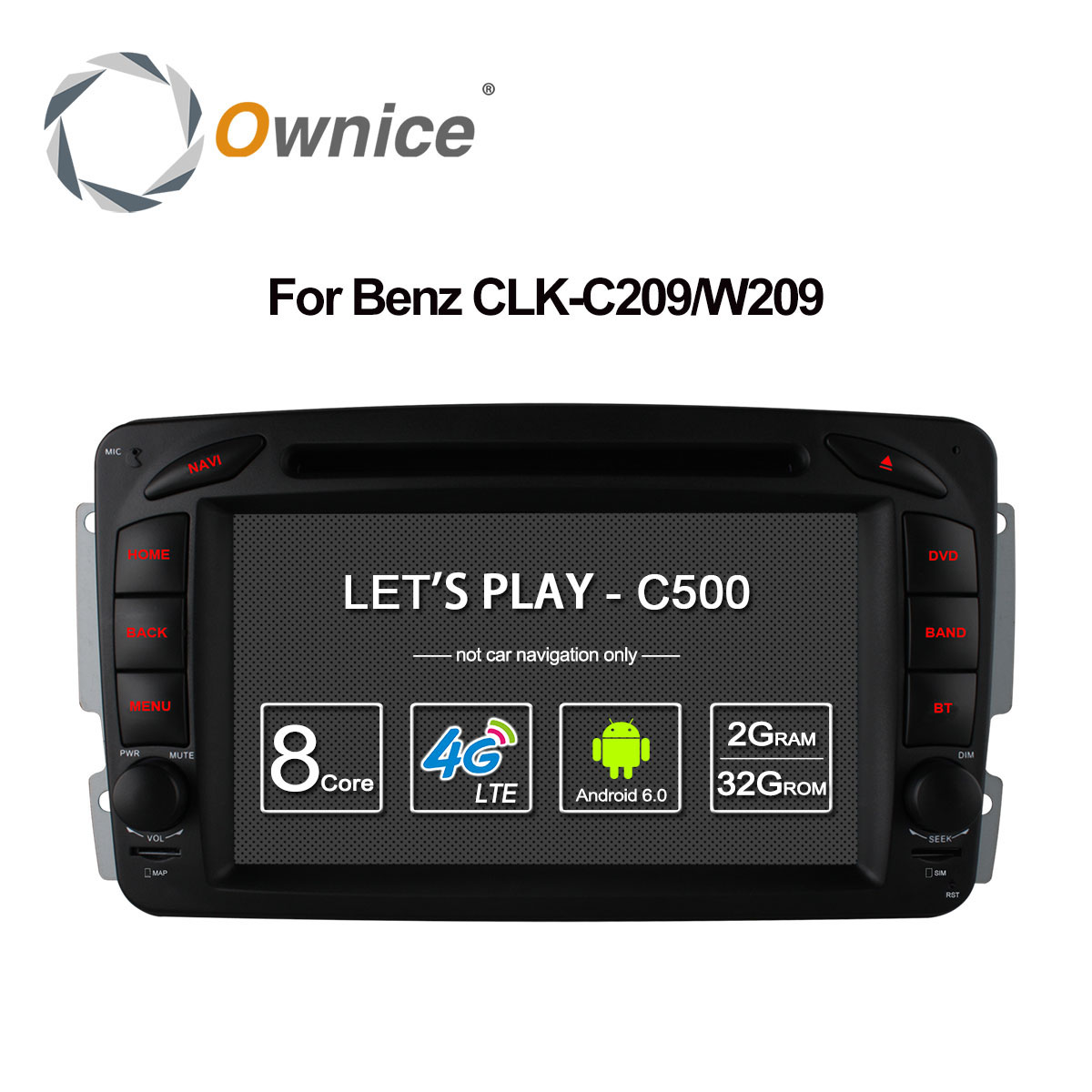 4G SIM LTE <font><b>Android</b></font> 6.0 Octa 8 Core Car DVD Player <font><b>GPS</b></font> For <font><b>Mercedes</b></font> W209 <font><b>W203</b></font> W168 M ML W163 W463 Viano W639 Vito Vaneo 32G ROM image