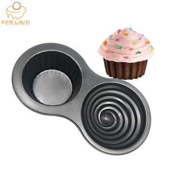Carbon Steel Giant Cupcake Mold/Mould Large Cupcake Pan Embossed Jumbo Cupcakes Mold Cake Baking Tools                       486