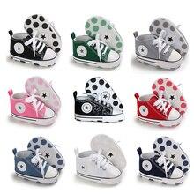 Обувь для новорожденных; обувь для малышей; белая мягкая нескользящая подошва; унисекс; Повседневная парусиновая обувь для маленьких мальчиков и девочек