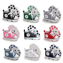 Newborn First Walkers Crib Shoe White Soft Anti-Slip Sole Unisex Toddler Casual