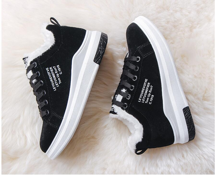 Cotton Shoes Female New Women's Boots Winter Plus Velvet Cotton Shoes Thick-Soled Warm Snow Women's Boots Women's Cotton Boots 15