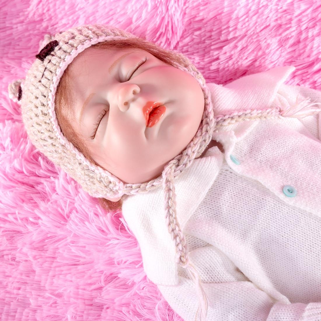 17.5 Inches Darren Cute Realistic Marilyn Reborn Baby Doll Boy Costume Collection Gift Set - Silicone Vinyl Body (Cloth Random)