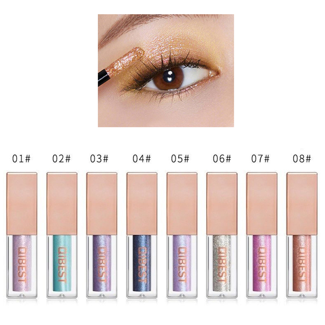 Hot 15 Colors Liquid Glitter Eyeshadow Pencil Shimmer Eyeshadow Waterproof Long-lasting Shimmer Eyeshadow Eye Makeup Accessories