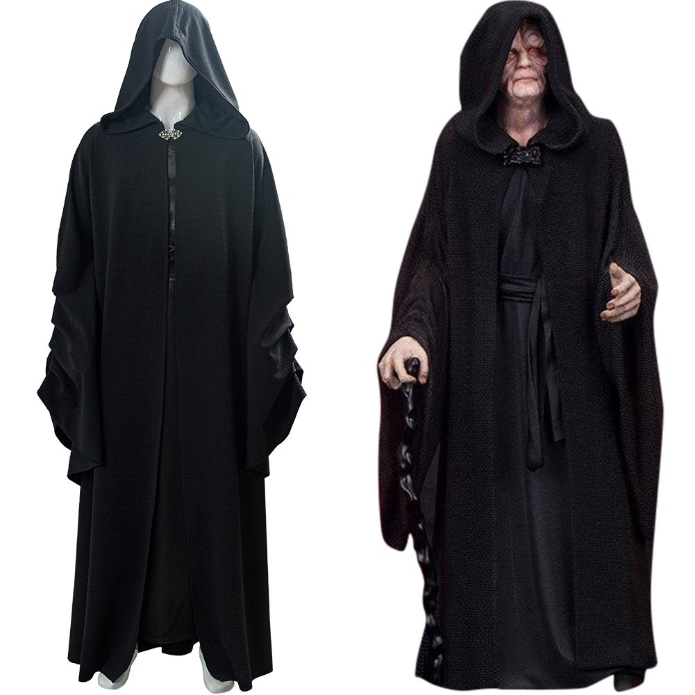 Star Wars Emperor Palpatine Darth Sidious Robe Outfit Halloween Cosplay Costume