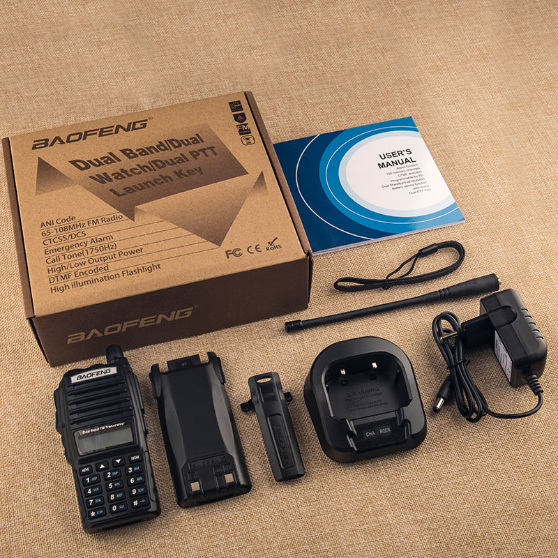 Купить с кэшбэком UV82 VHF UHF Transceiver Walkie-talkie Two Way Radio Talkie Walkie Ham Radio Comunicador uv-82 Baofeng uv 82 Walkie Talkie