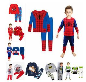 New Baby Wear kids Spider-Man Pyjamas Pijamas Children's Cartoon Batman Pajamas Boys Printed Sleepwears Clothing sets(China)