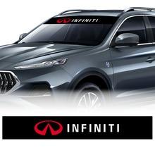 1 предмет; Модный комплект спереди и сзади наклейка на ветровое стекло авто окна автомобиля стикер Стайлинг для Infiniti FX35 Q50 Q30 эсквайр QX50 QX60 EX ...