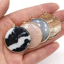 Круглые Подвески из натурального камня 2 шт изображение авантюрина