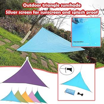 Zachowaj ciepłe schronienie narzędzia ogrodowe balkon anty-ultrafioletowe wentylowane żagle ogród taras Camping trójkąty cień żagle tanie i dobre opinie CN (pochodzenie) Odcień żagle obudowa nets Shade sail*1+wind rope*3 Drop shipping