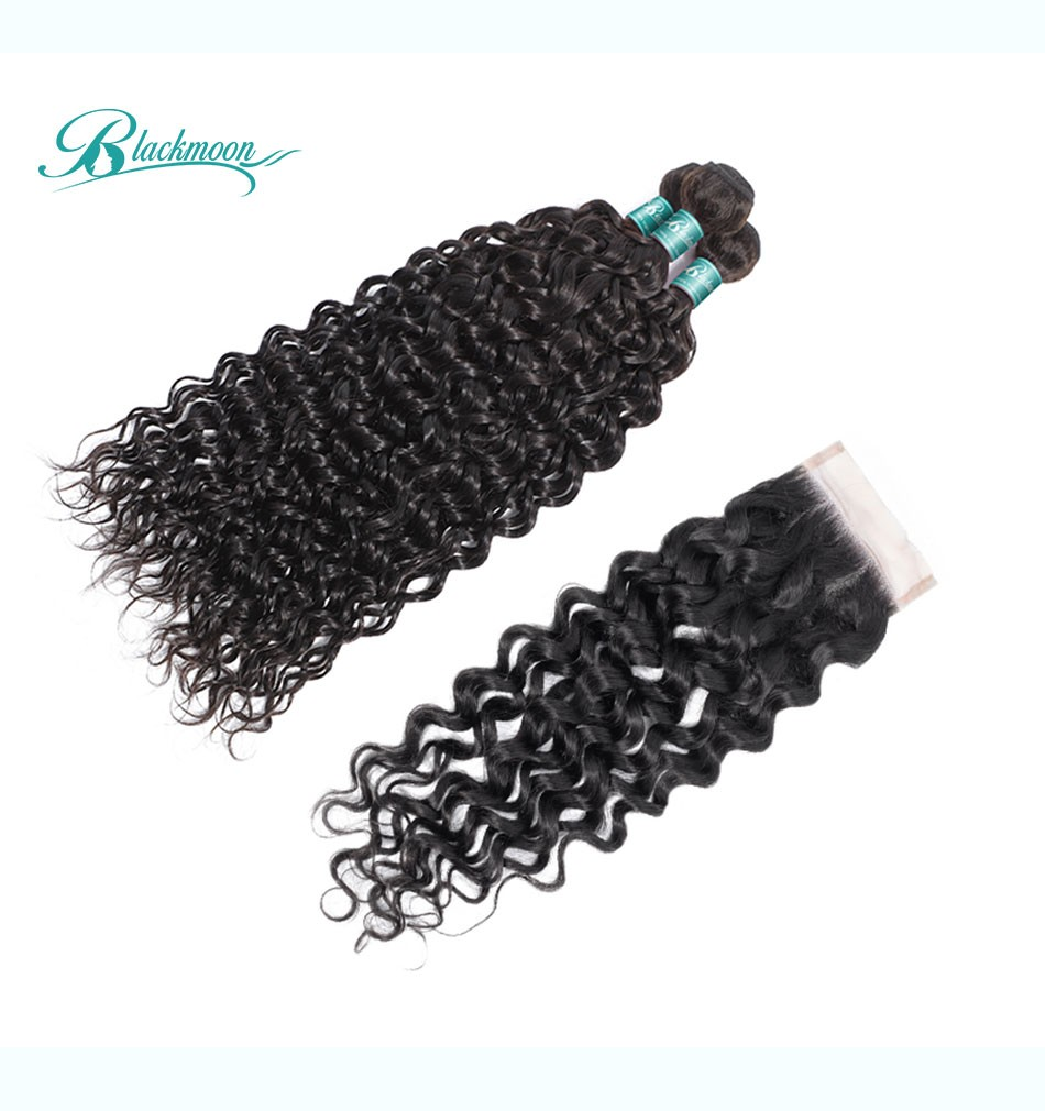 water wave hair weave 3 4 bundles with closure--3+4_05