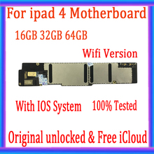 واي فاي/الجيل الثالث 3G نسخة لباد 4 اللوحة مع iCloud الحرة ، الأصلي مقفلة لباد 4 المنطق مجلس IOS نظام ، 16GB / 32GB / 64GB