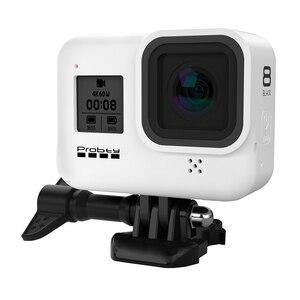 Image 3 - Probty for gopro hero 8 블랙 액세서리 케이스 gopro hero 8 black hero 카메라 용 보호 실리콘 케이스 스킨