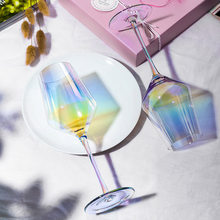 Europejski tęczowy szklany kieliszek czy wina kryształ czara czerwonego wina kieliszki czy szampana kolor kieliszek czy wina domu dichtungstechnik