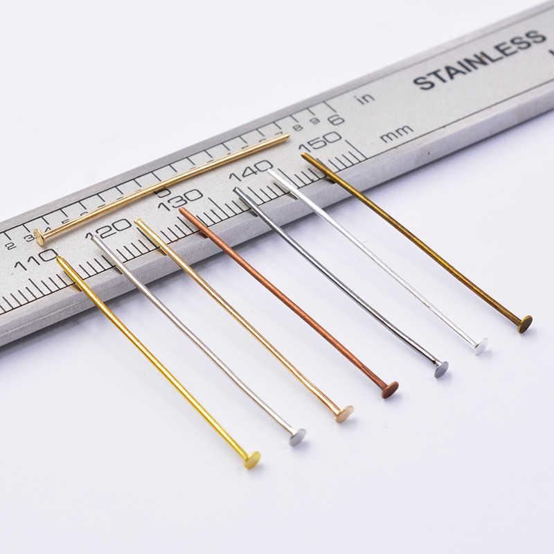 ผสม 200pcsColor แบนหัว 16-50 มม.แบนหัวเข็มลูกปัดอุปกรณ์สำหรับเครื่องประดับทำอุปกรณ์ต่างหู DIY