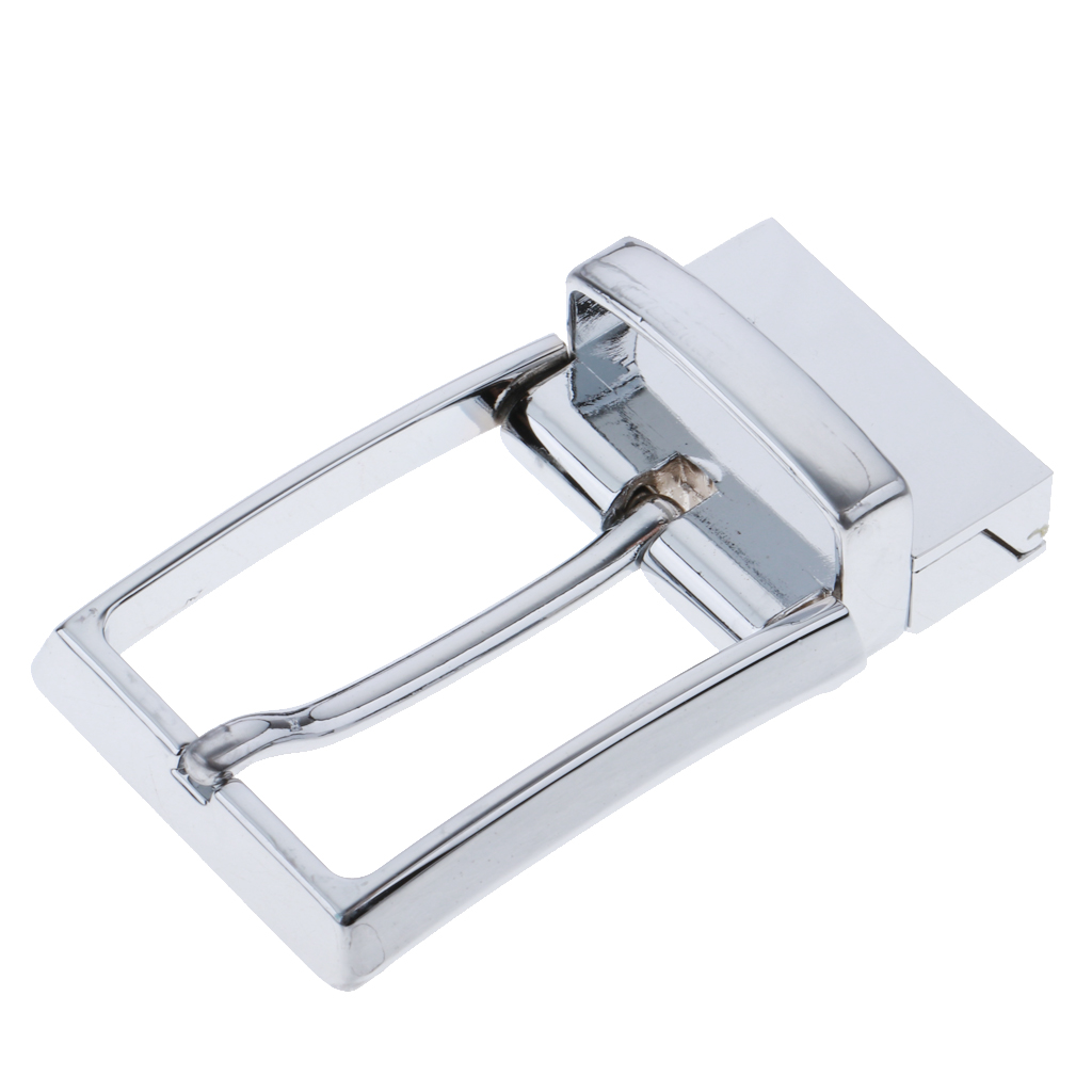 Alloy Reversible Belt Buckle Replacement - Single Prong Rectangular Pin Belt Buckle - Fit For 33mm/1.3 Inch Strap