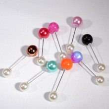 2019Fashion 1Pc Ms./Girl Imitation Pearl Brooch Classic Charm High Quality Accessories Simple Color Double Joker