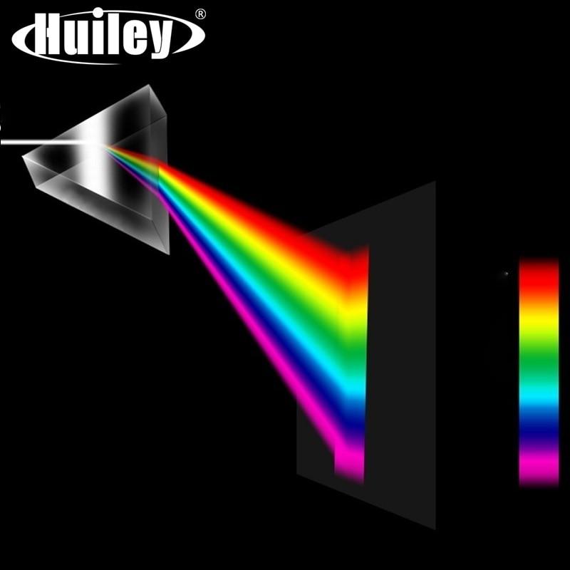 Prisme triangulaire verre optique Triple physique réfracteur enseignement spectre de lumière enseignement éducatif 30x30x50mm enfants étudiant