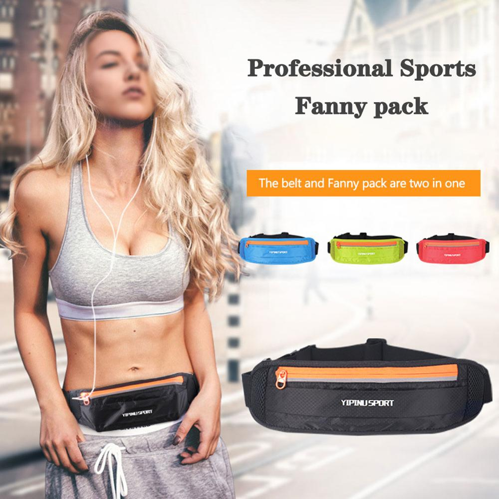 New Hot Running Belt Sports Waist Pack Waterproof Belt Pack Zipper Adjustable Running Pouch For 6