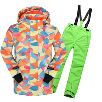 children Sets Winter 20 30 Degree Outdoor Warm Ski Sport Suit for Boys Kids Clothes Windproof Waterproof boys clothing set