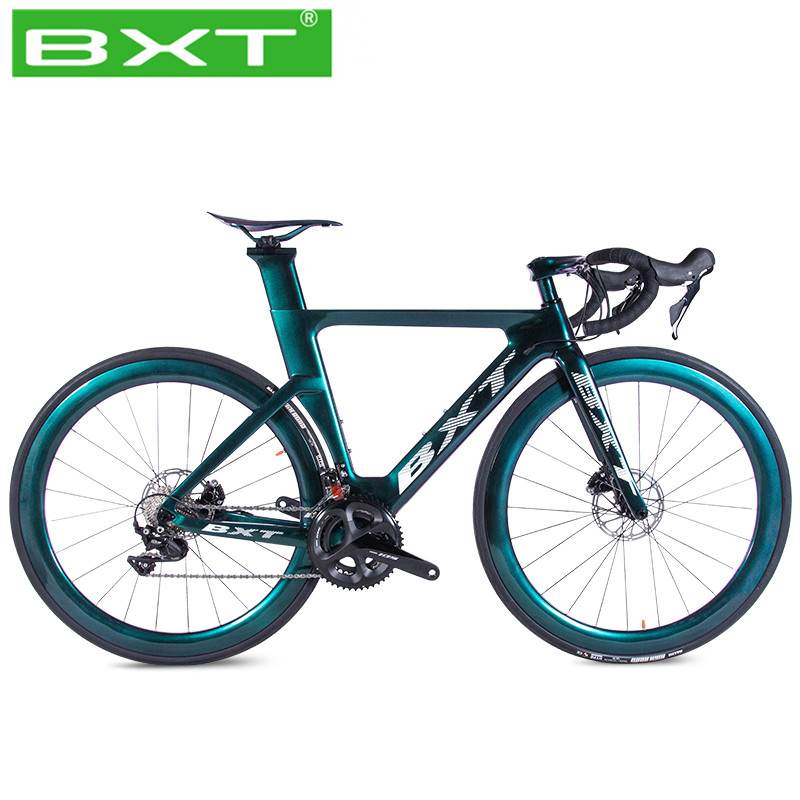 Newest Full Carbon Complete Road Racing Bike Bicycles Light Weight Speed Change Disc 11 Speed 700C Carbon Road Wheels Frame
