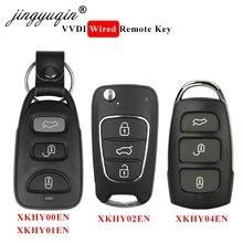 jingyuqin 5pcs XKHY00EN XKHY01EN XKHY02EN XKHY04EN Wired Remote Universal Car Key Remote for Xhorse VVDI Tool for Hyundai Style