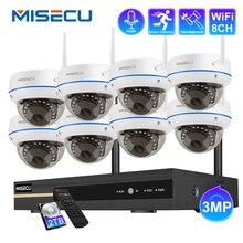 Misecuワイヤレスcctvシステム3MP nvr屋内バンダル無線lanカメラオーディオ録音IR CUT cctvカメラipセキュリティ監視キット