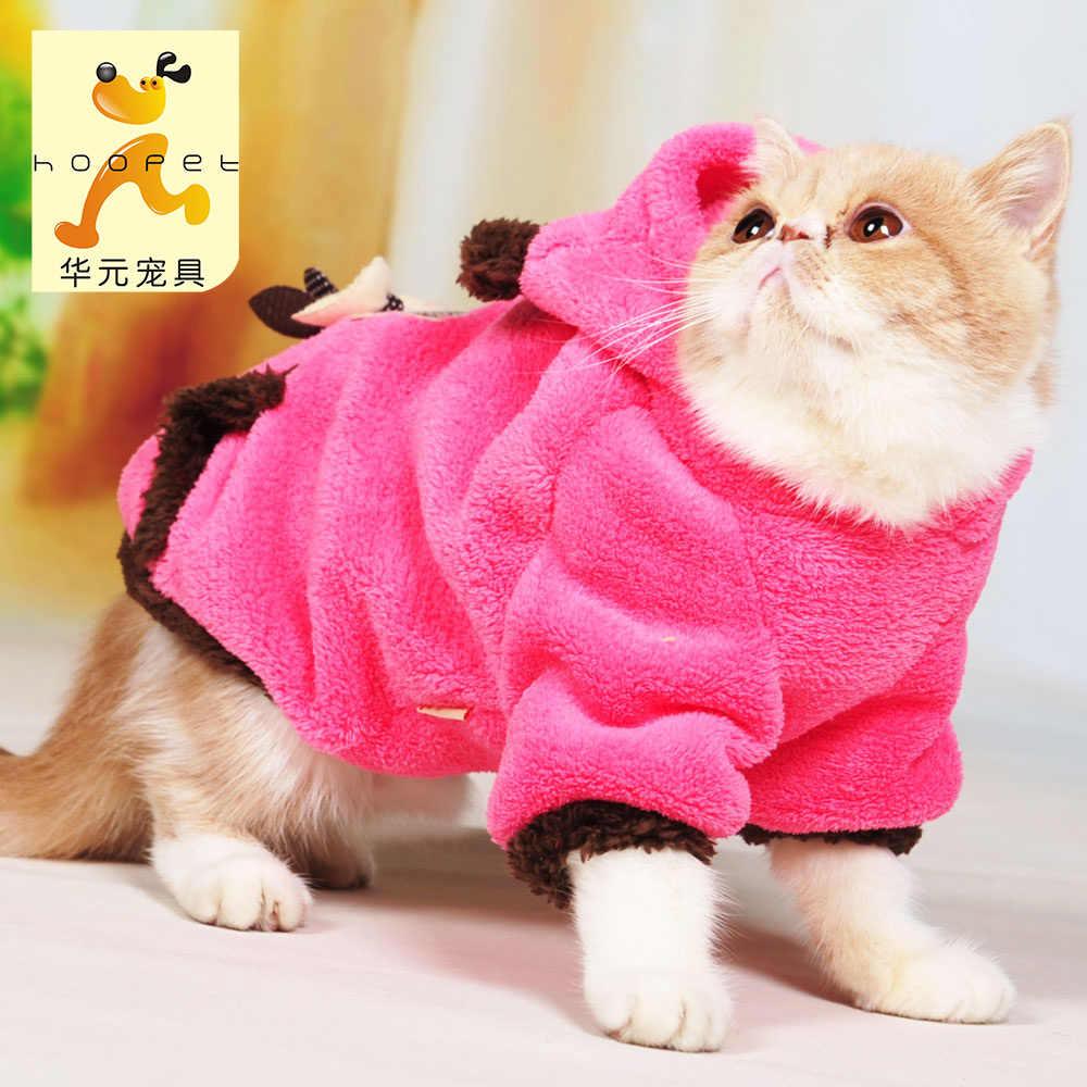 Ubrania dla kota Garfield kot niebieski kot składany kot bezwłosy kot ciepłe dwie stopy sukienka odzież dla zwierząt jesienna i zimowa sukienka BB5WY014
