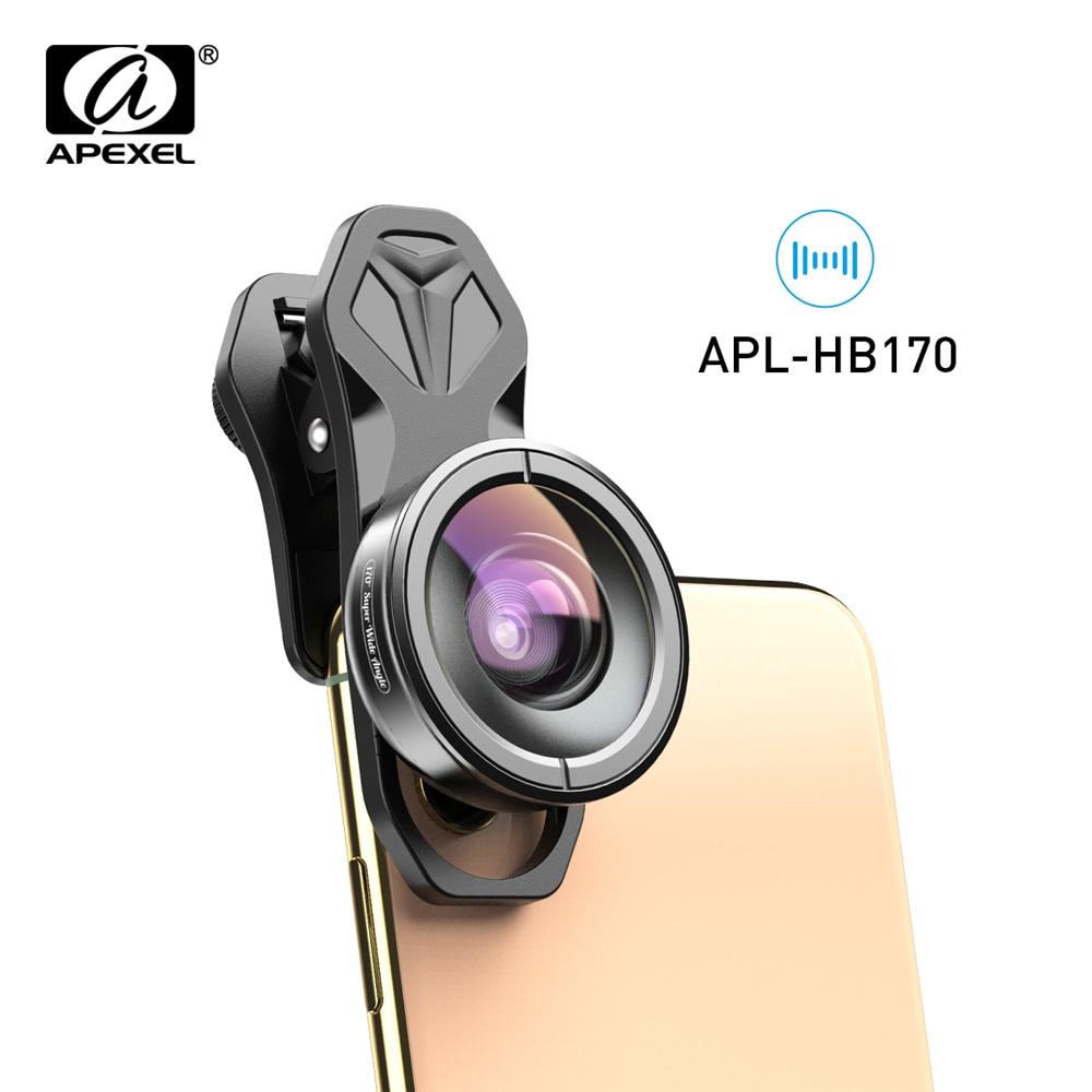 APEXEL 170 derece telefonu Lens HD optik süper geniş açı Lens kamera lensler Samsung/Iphone/Huawei/xiaomi