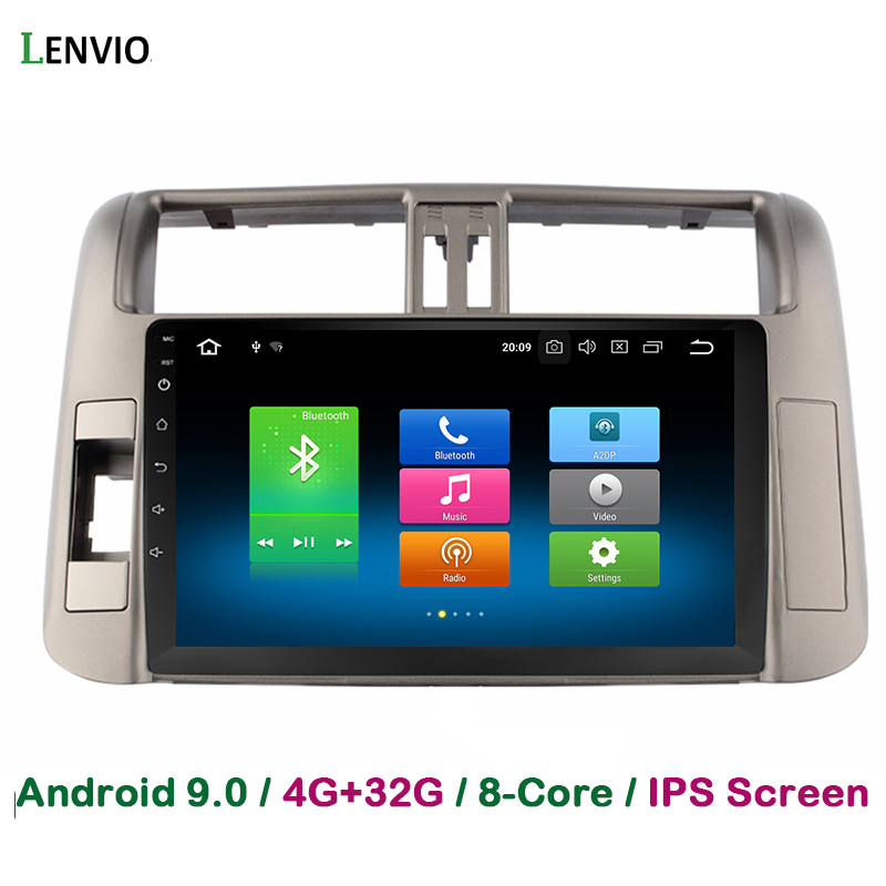 Lenvio IPS 4G RAM 32G ROM Octa Core Android 9.0 <font><b>Car</b></font> DVD <font><b>Radio</b></font> GPS Navigation multimedia <font><b>For</b></font> <font><b>Toyota</b></font> <font><b>Prado</b></font> <font><b>150</b></font> <font><b>2010</b></font> 2011 2012 2013 image