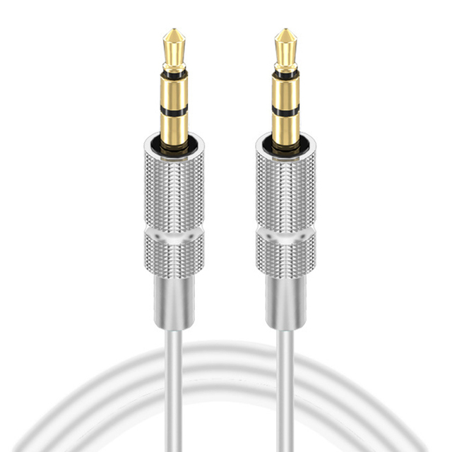 2 Colors Optional Universal 1M 2M 3.5MM Gold-Plated Audio Cable Male To Male Nylon AUX on Recording Car Audio Cable