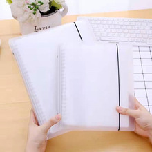 B5/A5 Notebook Planner Cover Matte File Folder 20/26 Holes And 50pcs Loose Leaf Pouch Document Storage Bag Office School Station