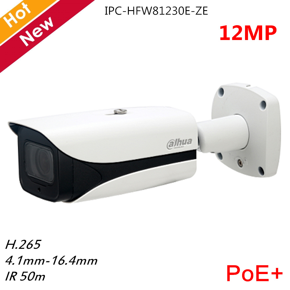 New <font><b>12MP</b></font> <font><b>Dahua</b></font> <font><b>IP</b></font> <font><b>Camera</b></font> IPC-HFW81230E-ZE 4.1-16.4mm Zoom lens Auto Iris H.265 PoE+ Day/Night Vision <font><b>12mp</b></font> Security <font><b>Camera</b></font> image