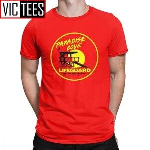 Erkek T-Shirt Baywatch cankurtaran komik % 100 pamuk plaj defne izle Lifeguarding üniforma T Shirt Camisas Hombre büyük boy