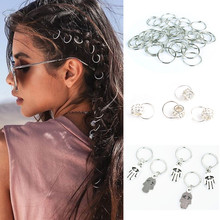 Cuffs-Rings Jewelry Clasps-Accessories Hair Braid Dreadlock Beads Hip-Hop-Style Clips