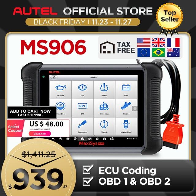 Autel Maxisys MS906รถยนต์สแกนเนอร์เครื่องมือสแกนรหัสReader (รุ่นอัพเกรดDS708และDS808) กับOEระดับ