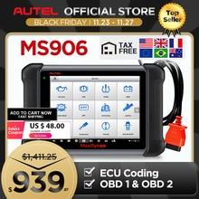 Autel Maxisys MS906 Ô Tô Máy Quét Chẩn Đoán Công Cụ Quét Mã (Phiên Bản Nâng Cấp Của DS708 Và DS808) với Bánh Xà Phòng OE Cấp