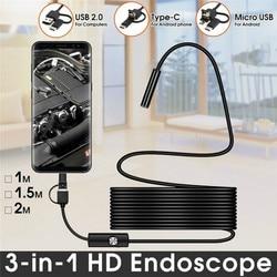 QZT USB Mini Endoscope Camera Type C Waterproof Mini Borescope Inspection Camera Micro Endoscope Camera For Smart Android Phone