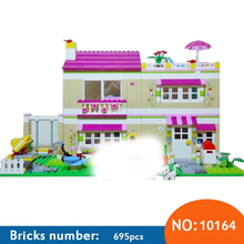 AIBOULLY 10164 Friends Olivia's House Blocks Bricks Toys Girl Game Castle Gift Bricks Gift Toys Compatible 3315 Free Shipping