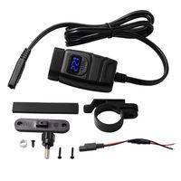 Dual USB QC 3 0 wasserdichte telefon ladegerät schnelle lade 12V motorrad fahrzeug ladegerät mit red voltmeter schalter-in Motorrad-Elektronik Zubehör aus Kraftfahrzeuge und Motorräder bei