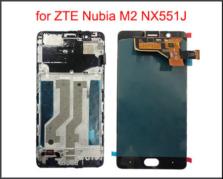 """5.5"""" AMOLED LCD Display for ZTE Nubia M2 NX551J LCD Display Touch Screen Digitizer Panel Sensor Replacement Assembly with Frame"""