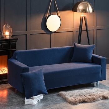 4 sizes elastic solid color sofa cover for u shape sofa cover l shaped stretch seater chair sofa cover pillow case Solid Color Polar Fleece Slipcover Sofa Couch Cover Elastic full sofa Cover 1/2/3/4 seater Stretch Pillow Case Chair Covers