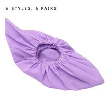 Shoe-Covers 6-Pairs Protectors Non-Woven-Fabric Floral-Printing Non-Slip Washable of