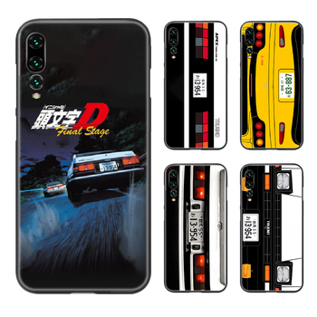 Japan Initial D AE86 car Phone Case Cover Hull For Huawei P8 P9 P10 P20 P30 P40 Lite Pro Plus smart Z 2019 black cell cover image