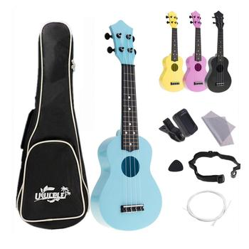 21 Inch Soprano Ukulele 4 Strings Full Kits Acoustic Colorful Hawaii Guitar Guitarra Instrument for Kids and Music Beginner цена 2017