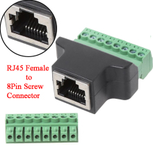 Ethernet RJ45 Weibliche Jack Zu 8-Pin Schraube Terminal Block Konverter Adapter Stecker Adaptfor digitale DVR